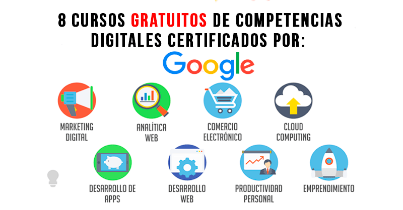 Google ofrece 8 cursos gratuitos de competencias digitales for Cursos gratuitos decoracion e interiorismo
