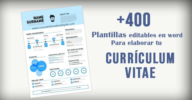 400 Plantillas Editables En Word Para Elaborar Tu Curriculum Vitae