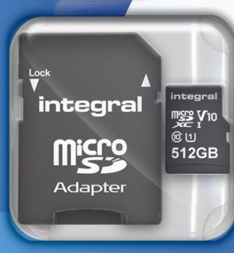tarjeta microsd 512 GB integral