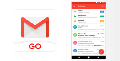 Gmail Go disponible en Google Play