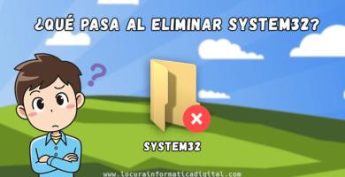 ¿Qué pasa si intentamos Eliminar la Carpeta System32?