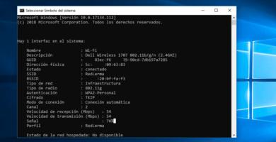 Cómo verificar la potencia de la señal wi-fi a través del CMD en Windows