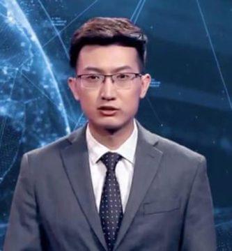 China presentó el primer presentador de noticias con inteligencia artificial