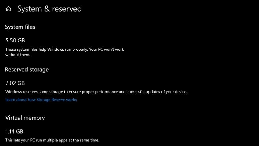 Windows 10 reservará 7 GB de almacenamiento antes de instalar una actualización