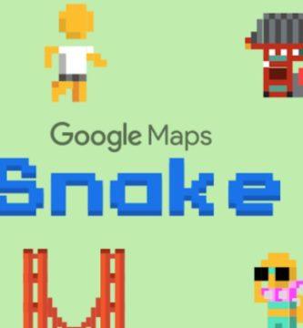 Google nos trae el juego de 'Snake' a Google Maps por el Día de los Inocentes ⚡