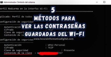 5 Métodos para ver las Contraseñas guardadas del WiFi en Windows 10