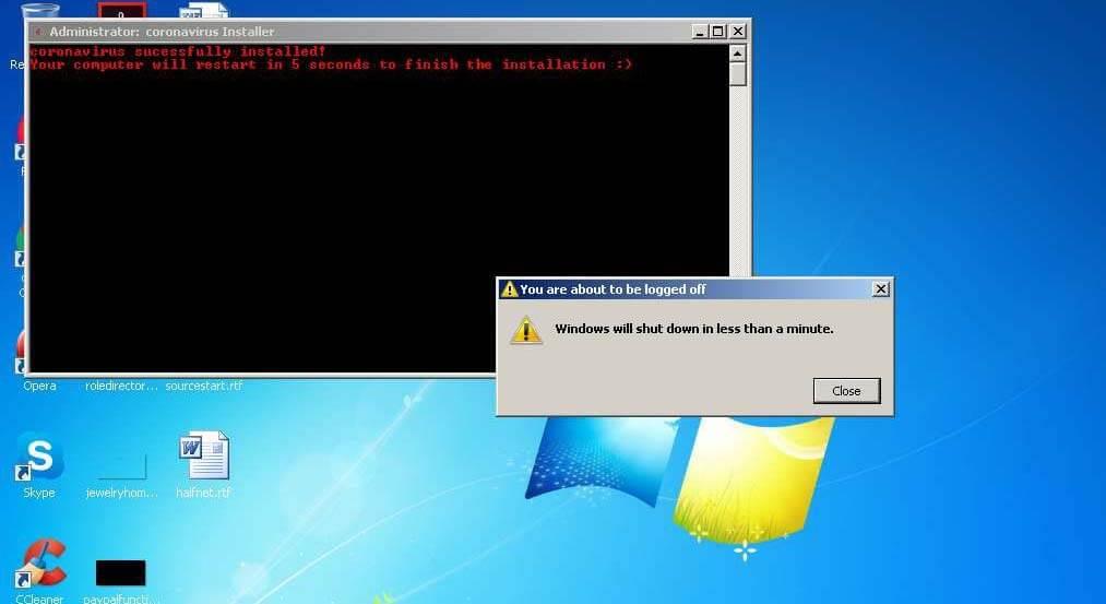 """Este Nuevo Malware llamado """"Coronavirus"""" corrompe Windows y bloquea los usuarios"""