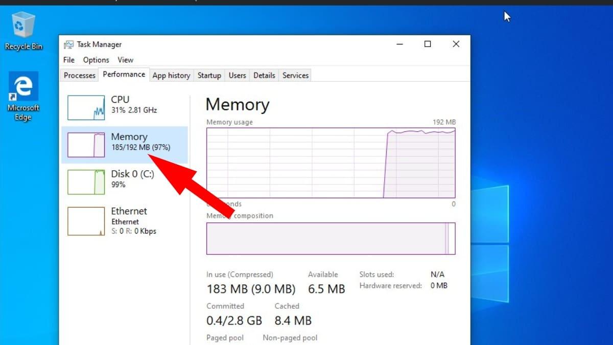 Este Desarrollador logró ejecutar Windows 10 con 192 MB de Memoria RAM