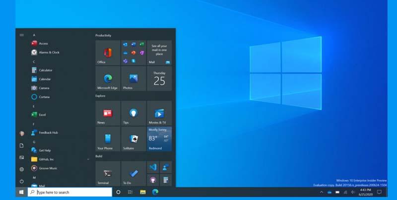 Microsoft Lanzo Oficialmente el Nuevo Menú de Inicio de Windows 10